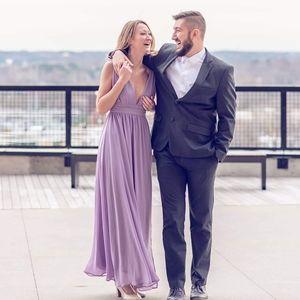 Heavenly hues dusty purple maxi dress